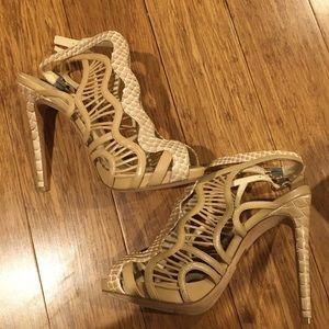Alexandre Birman python leather sandals